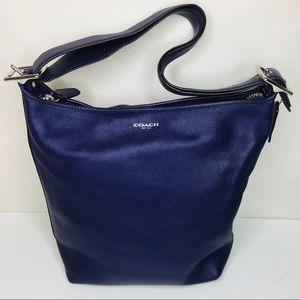 Coach   Plum Leather Bucket Bag Purse